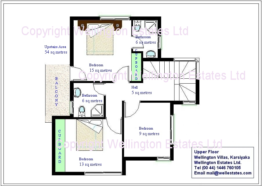 Mirage Villa Upstairs Floor Plan