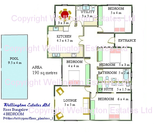 Ross Bungalow 4 Bedroom Floor Plan